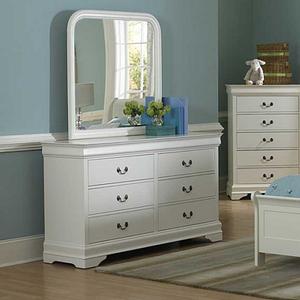 001M Mirror  - Finish: White<br><br>*Dresser Sold Separately<br><br>Dimensions: 38.5