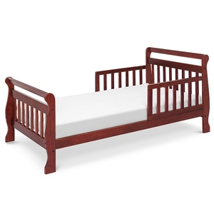 003TRB Toddler Sleigh Bed in Cherry - Finish: Cherry<br><br>Available in Grey, Espresso & White<br><br>Assembly Required<br><br>Made in China<br><br>Assembled Weight: 23 lbs<br><br>Dimensions: 57 x 29.625 x 28.125