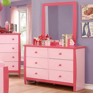 004M Pink Mirror - Color/Finish: Pink<br><br>Dimensions: 32 3/8