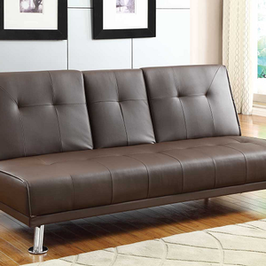 006FN Sofa Bed - Finish: Brown Bi-Cast Vinyl<br><br>Dimensions:<br><br>Sofa: 74 x 32.5 x 33.5H<br><br>Bed: 74 x 46.5 x 15.75H