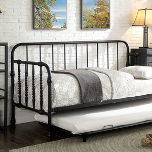 006MDB Metal Daybed w/ Trundle - Finish: Black<br><br>Available in White Finish<br><br>Trundle Included<br><br>Mattress Ready<br><br>Dimensions: 79 7/8