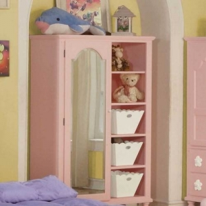 017AM Pink Armoire  - Finish: Pink<br><br>Dimensions: 42