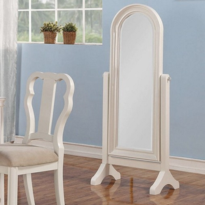 007CM Cheval Mirror - Finish: White<br><br>Dimensions: 23