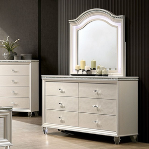 007M Mirror - Finish: White<br><br>*Dresser Sold Separately<br><br>Dimensions: 38W x 2D x 40H