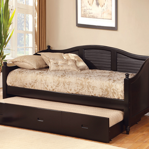 011DB Daybed W/Twin Trundle In White - Finish: Black<br><br>Also Available in White<br><br>Dimensions: 81