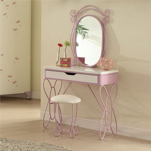 011V Vanity Set  - Finish: White / Light Purple<br><br>