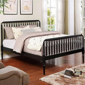026FB Full Spindle Bed in Black - Color/Finish: Black<br><br>**Trundle Optional**<br><br>Available in White<br><br>Available in Twin Size & Queen Size<br><br> Dimensions: 80 1/4