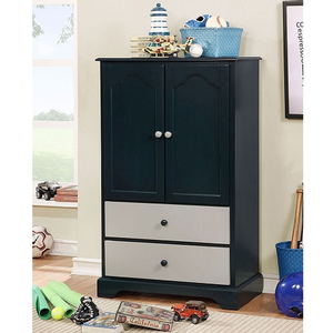 013AM Armoire w/ 2 Drawers in Blue - Finish: Blue<br><br>Available in Cherry & Gray<br><br>