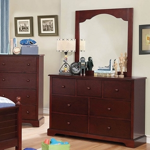 013DR 7 Drawer Dresser - Finish: Cherry<br><br>Available in Blue &  Gray<br><br>Dimensions: 48