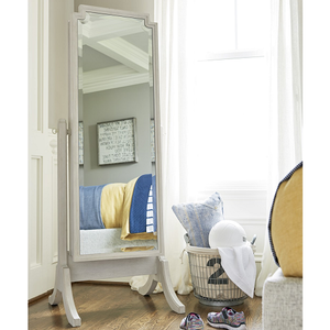 013M Cheval Storage Mirror - Finish: Alabaster<br><br>Dimensions: 24