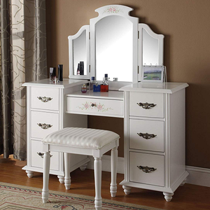 014M White Fold Out Mirror  - Finish: White<br><br>Dimensions: 36