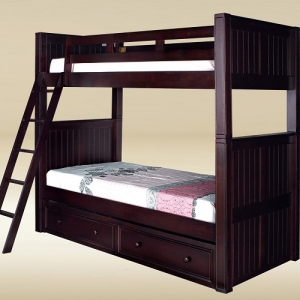 A0008TT Win Collection Twin over Twin Bunk Bed - <b>Drawers Sold Separately</b><br><Br>83L X 43D x 72H
