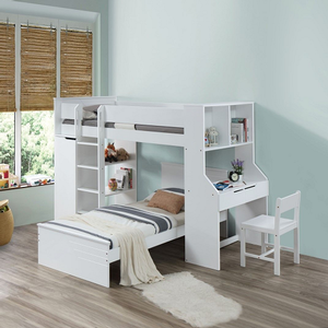 016CHR Simple White Chair - Finish: White<br><br>Loft bed Sold Separately<br><br>Twin Bed Sold Separately<br><br>Dimensions: 30