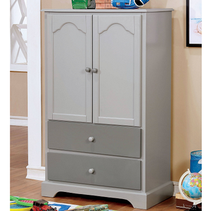 018AM Armoire in Gray - Finish: Gray<br><br>Available in Cherry & Blue<br><br>Dimensions: 32 1/8