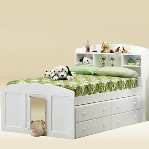 019CB Full SIze Captains Bed in White