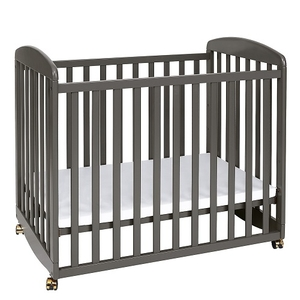 017MCRB Mini Rocking Crib in Slate  - Finish: Slate<br><br>Available in Ebony Black, Natural, White & Cherry<br><br>Made in China<br><br>Assembly Required<br><br>Dimensions: 38.75