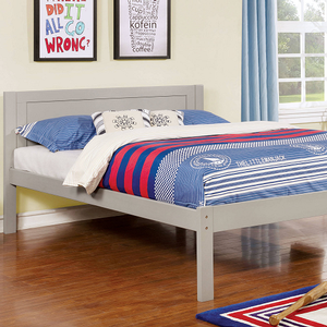 020FB Full Bed in Gray - Finish: Gray<br><br>Slat Kit Included<br><br>Available in Twin Size<br><br>Available in White or Dark Walnut Finish<br><br>Dimensions: 77 1/2