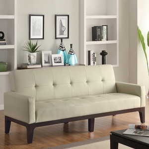 020FN Tufted Sofa Bed w/ Track Arms - Finish: Cream<br><br>Dimensions: Sofa: 79L x 34W x 35H<br><br>Depth: 22<br><br>Sofa Bed: 79L x 45W x 23H