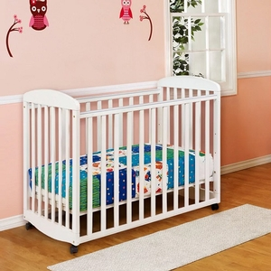 013MCRB Mini Rocking Crib in White - Finish: White<br><br>Dimensions: Ebony Black, Slate, Natural & Cherry<br><br>Made in China<br><br>Assembly Required<br><br>Dimensions: 38.75