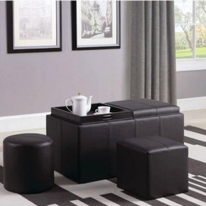 020SB Storage Bench - Finish: Brown<br><br>Upholstery: Leatherette<br><br>Leg Finish: Black<br><br>Dimensions: 36W x 18.75D x  19.50H