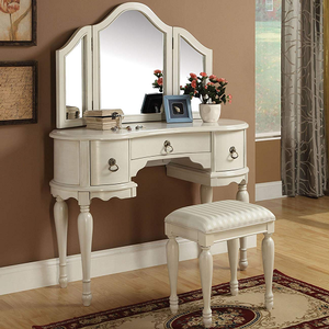 021M Vanity Mirror - Finish: White<br><br>Dimensions: 42