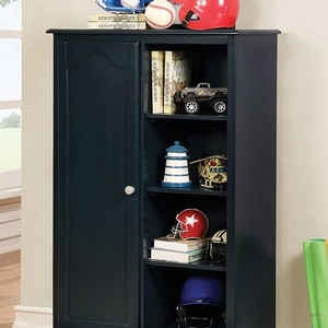 022AM Armoire in Blue - Finish: Blue<br><br>Available in Cherry & Gray<br><br>Dimensions: 32 1/8