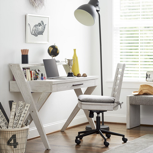 022D Student Desk - Finish: Sea Salt<br><br>Chair Sold Separately<br><br>50W x 23D x 38H