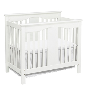 010MCRB Elegant 2-in-1 Mini Crib - Finish: White<br><br>Available in Espresso<br><br>Made in China<br><br>Assembly Required<br><br>Dimensions: 42.125