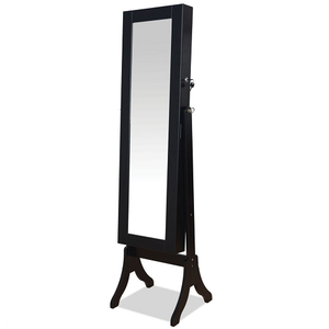023CM Jewelry Mirror - Finish: Black<br><br>Dimensions: 14