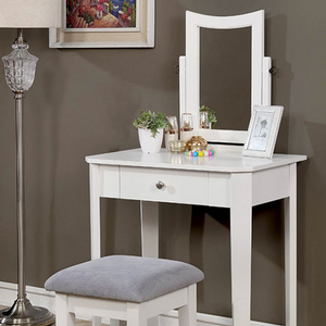 023V Classic Vanity Set in White - Finish: White<br><br>Available in Gray, Black or Pink Finish<br><br>