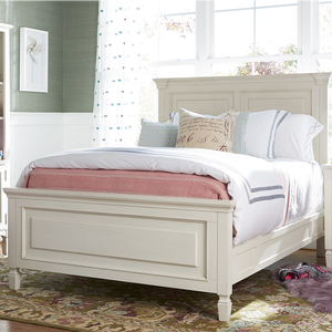 023FB Full Size Reading Bed - Finish: Cotton<br><br>Available in Twin Size<br><br>Optional Trundle Sold Separately<br><br>Dimensions: 60W x 82D x 52H