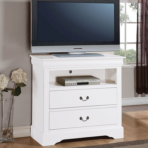 031MCH Media Chest in White - Finish: White<br><br>Dimensions: 37