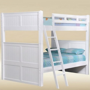 A0004FF Full/Full Bunk Bed in White