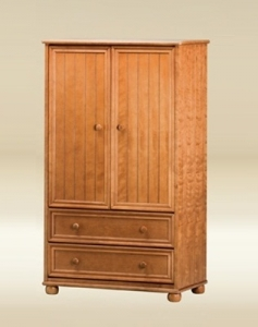 022 SJA306-BB-P Armoire in Pecan