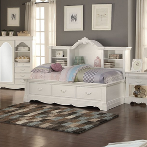 040DB Daybed w/ Storage - Finish: White<br><br>No Box Spring Required<br><br>Dimensions: 84
