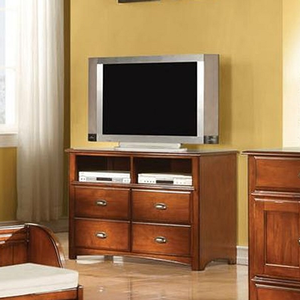 042MCH 4 Drawer TV Console  - Finish: Antique Oak<br><br>Dimensions: 44