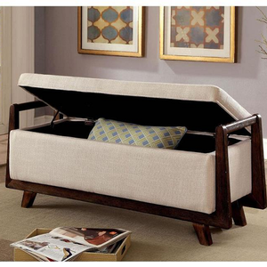 "004SB Storage Bench - Finish: Beige<br><br>Available in Grey & Light Grey Finish<br><br>Dimensions: 47 7/8W X 18D X 19 7/8H<br><br>SEAT DP: 18"", SEAT HT: 17 3/4"""