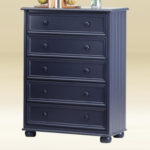 128CH BLUE 5 Drawer Chest