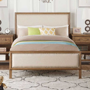064FB Full Upholstered Bed  - Finish: Reclaimed Oak<br><br>Available in Twin Size<br><br>Dimensions: 80