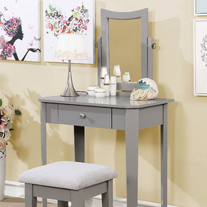 021V Classic Vanity Set in Gray - Finish: Gray<br><br>Available in White, Black or Pink Finish<br><br>
