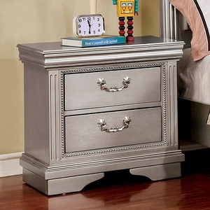 082NS Antique Style Nightstand - Finish: Silver Gray<br><br>Dimensions: 24