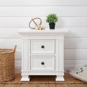 085NS White 2 Drawer Nightstand - Finish: Warm White<br><br>Available in Espresso & Truffle Finish<br><br>Dimensions: 28.43