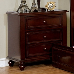086NS 3 Drawer Nightstand - Finish: Dark Walnut<br><br>Dimensions: