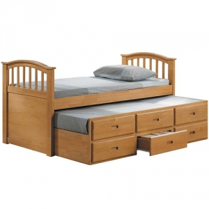031CB Full Bed & Twin trundle w/ Drawers