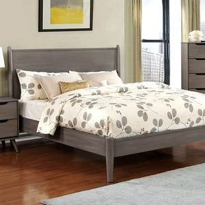 0020TB Faye Modern Twin Bed in Gray - Finish: Gray<br><br>Available in Full Size<br><br>Slat Kit Included<br><br>Available in White, Black or Oak Finish<br><br>Dimensions: 81 1/2