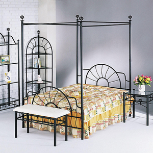 1060FMB Full Canopy Bed - Finish: Sandy Black<br><br>Available in Queen Size<br><br>Dimensions: 83