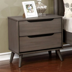 119NS Modern Gray 2 Drawer Nightstand - Finish: Gray<br><br>Available in White, Black or Oak Finish<br><br>Dimensions: 23 5/8