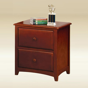 123NS Two Drawer Nightstand in Dark Pecan