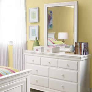016M Mirror - <b>Dresser Sold Separately</b><br><Br>Beveled mirror can be positioned vertically or horizontally<br><br>