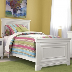 0027TB Janiya Twin Panel Bed - Headboard can be used separately<BR><BR>Built-in reading light<BR><BR>